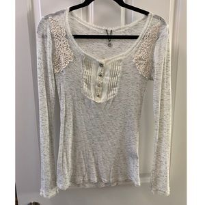 Thermal baby doll top
